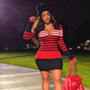 Dresses & Skirts - Striped Sweater Dress